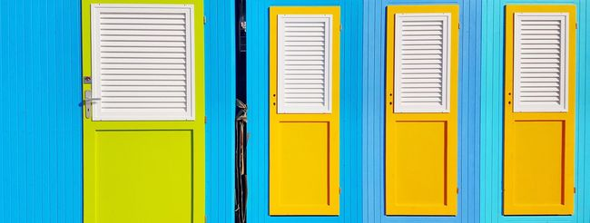 Doors Changing Rooms Cabin Colourful Colours At The Beach Blue Green Yellow The Street Photographer - 2016 EyeEm Awards Italy From My Point Of View The Places I've Been Today South The Architect - 2016 EyeEm Awards EyeEm Gallery Lines Lines And Shapes Design Details Happy Things I Like Lifestyles Directly Above In A Row