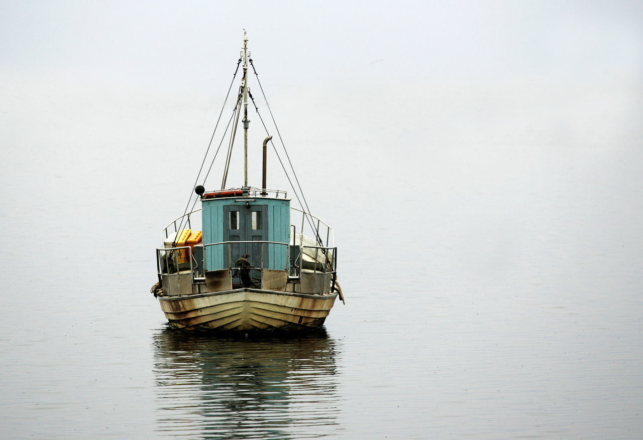 Beauty In Nature Boat Calm Calm Sea Day Hookervalley Nature Sea Shallop Transportation