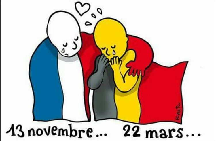 dear terrorists you should have learned the Belgian history before attacking us. NO WAR EVER WAS WON AGAINST US. Pray For Belgium