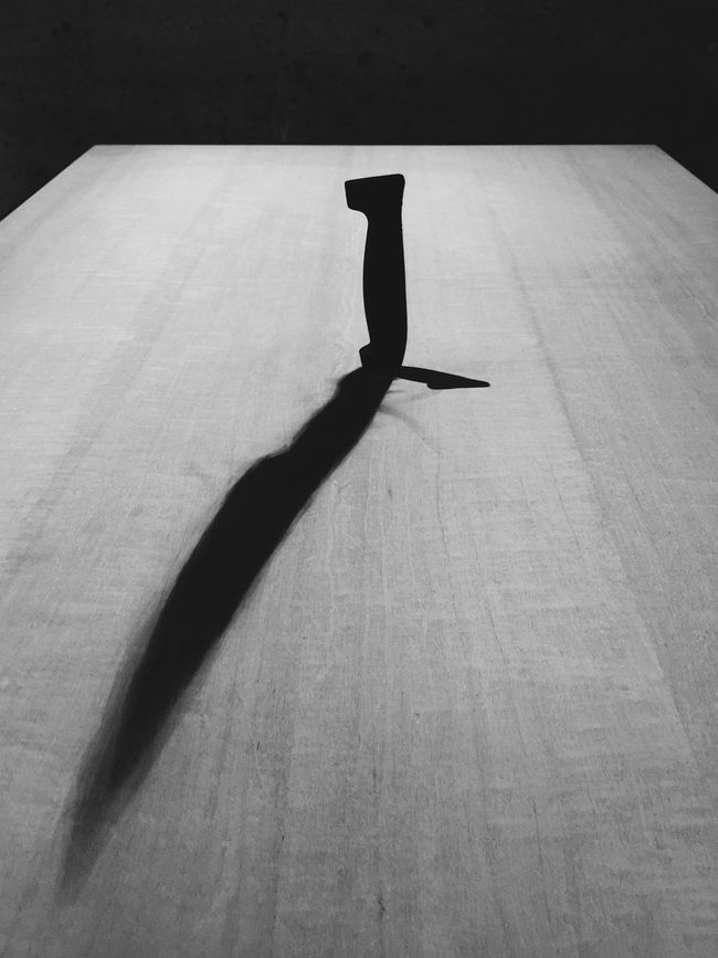 Exhibition Art Knife Table Light And Shadow La Biennale Di Venezia Venicebiennale2015 Blackandwhite From Vienna To Milan