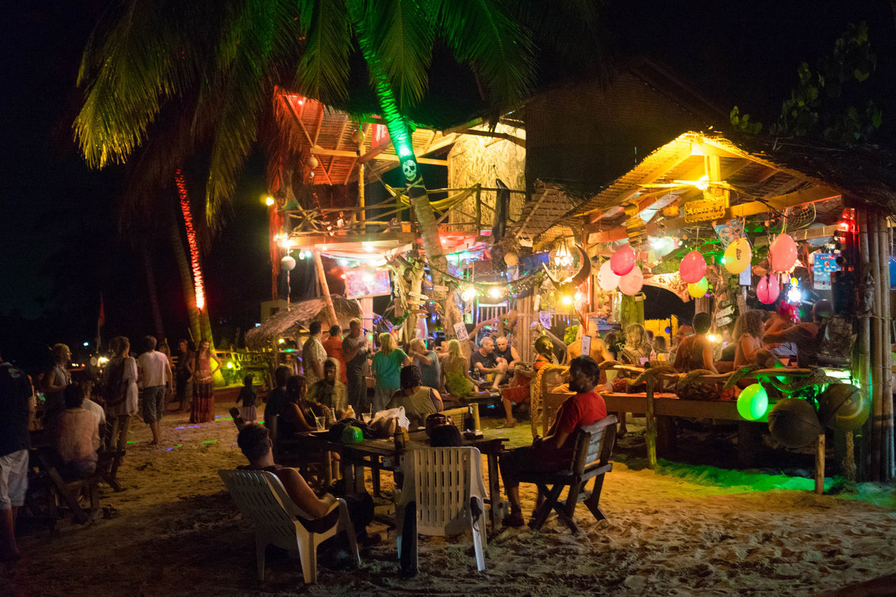 Island Life EyeEm Koh Phangan Beach Photography Colorful Ligths Reagge Bar Koh Phangan Coastline Spotted In Thailand