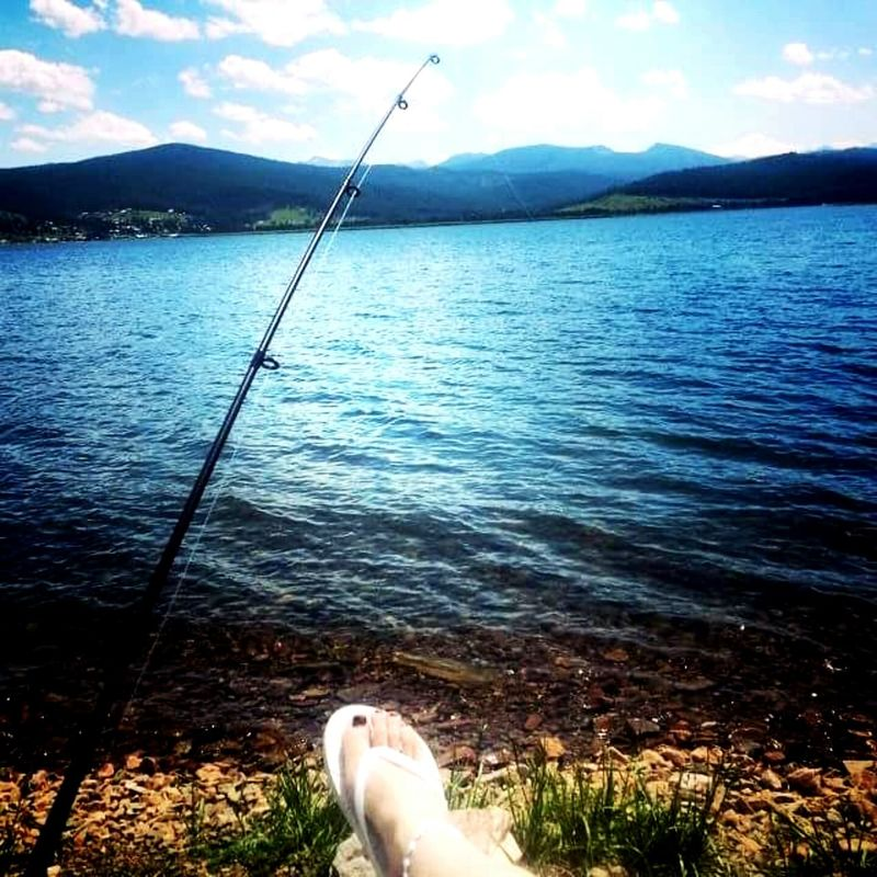 Lovely Weather Relaxing Fishing Flipflops Peace And Quiet Nature On Your Doorstep Enjoying Life Lake View Beautiful Day Summer Time  Place Of Heart Live For The Story The Week On EyeEm