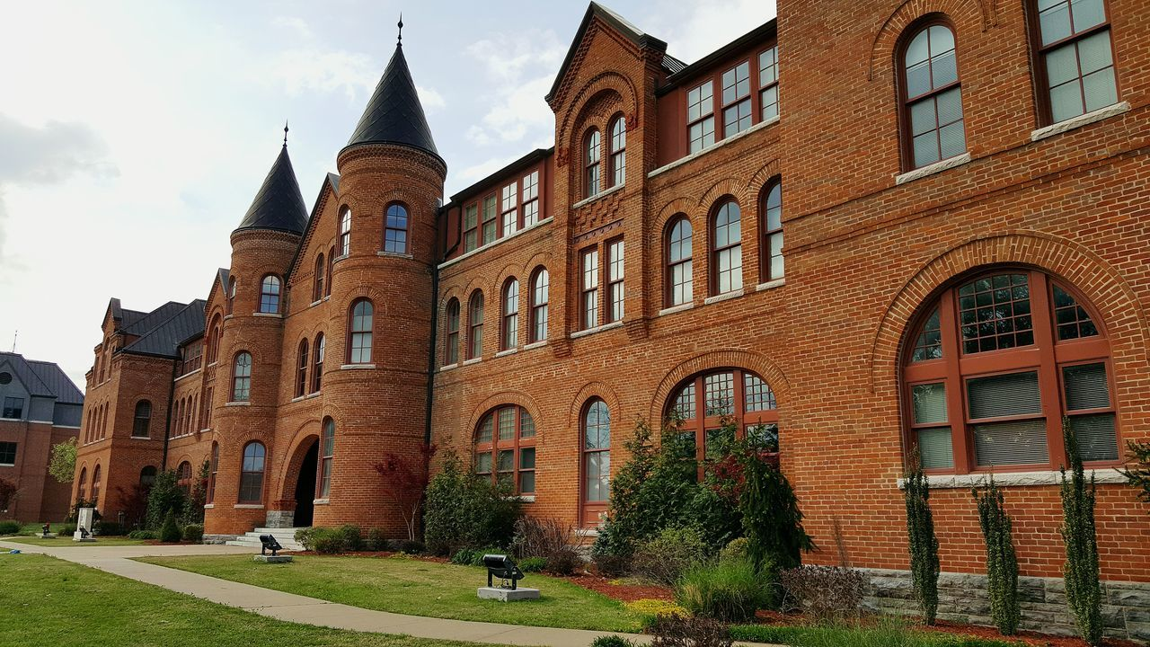 Seminary Hall at NSU Architecture College Campus Nsu Building Exterior Sky No People First Eyeem Photo Tahlequah Oklahoma Brick No Filter
