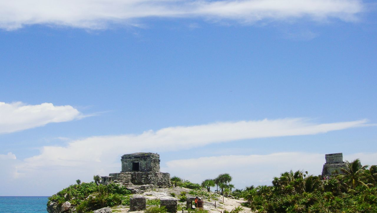 Sky Building Exterior Built Structure Architecture Tree Cloud - Sky No People Outdoors City Day Nature Mexico Tulum, Mexico Tulum Ruins Tulum Beach Tulum , Rivera Maya.