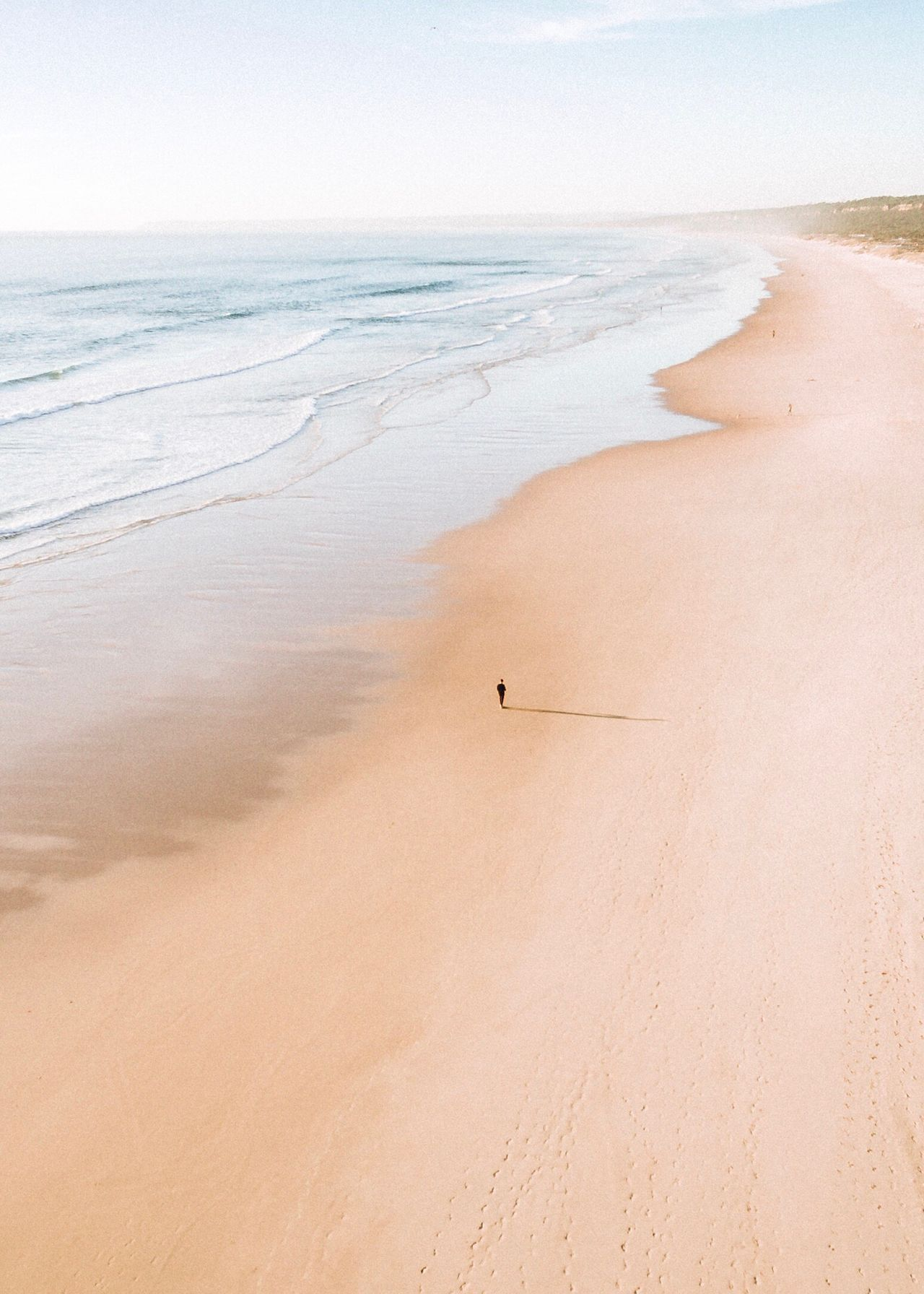 Sand Beach Nature Sea Horizon Over Water Beauty In Nature Day Clear Sky Tranquility Outdoors Scenics One Person Wave Water Sand Dune EyeEm Best Shots EyeEm Gallery EyeEm EyeEmBestPics Flying High Live For The Story
