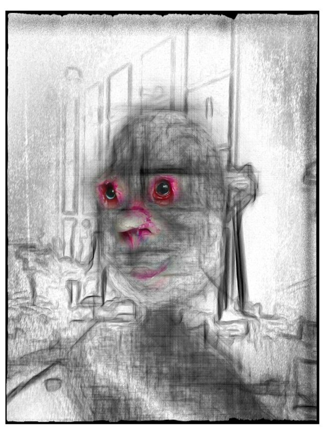 Portrait Portrait Of A Murderer Darkart Art Secret Garden Sketch Close-up Getting In Touch