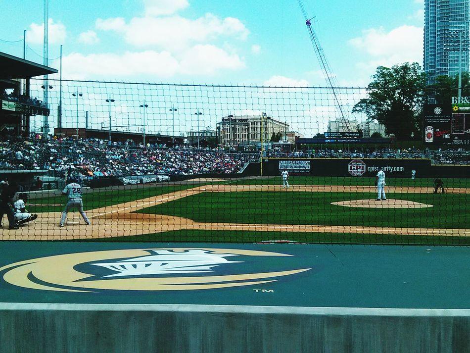 At the Knight's game!! Baseball Charlotte Charlotteknights Itshot