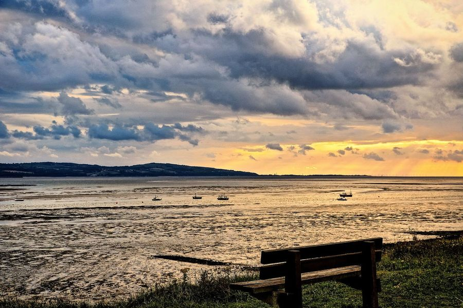 Beauty In Nature Cloud - Sky Dramatic Sky England England🇬🇧 Mudflats Nature No People Outdoors Scenics Sea Sky Sunset Tranquil Scene Tranquility Vacations Water Wirralcountrypark