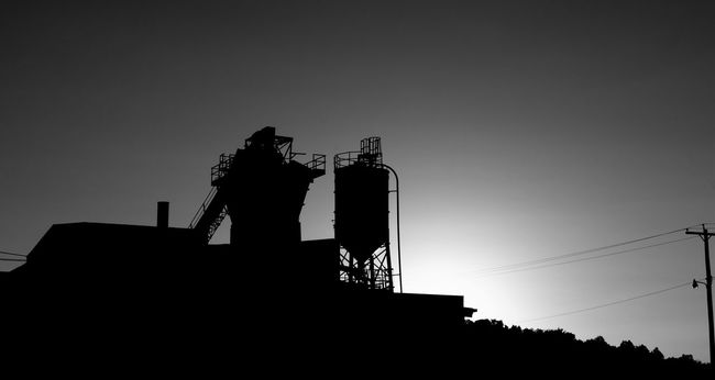 Silhouette Low Angle View Architecture Built Structure Building Exterior Copy Space Clear Sky Industry Sky Outline Day Outdoors Dark High Section No People Tall - High Tall Black And White Monochrome Blackandwhite Nj Backgrounds Old Buildings New Jersey Black & White