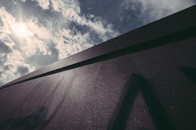 Against The Light Architecture Built Structure Cloud - Sky Cloudy Contre-jour Contre-jour Shot Day Low Angle View Metal Nature No People Outdoors Sky Steel Sunbeam Sunlight Sunny Tilt