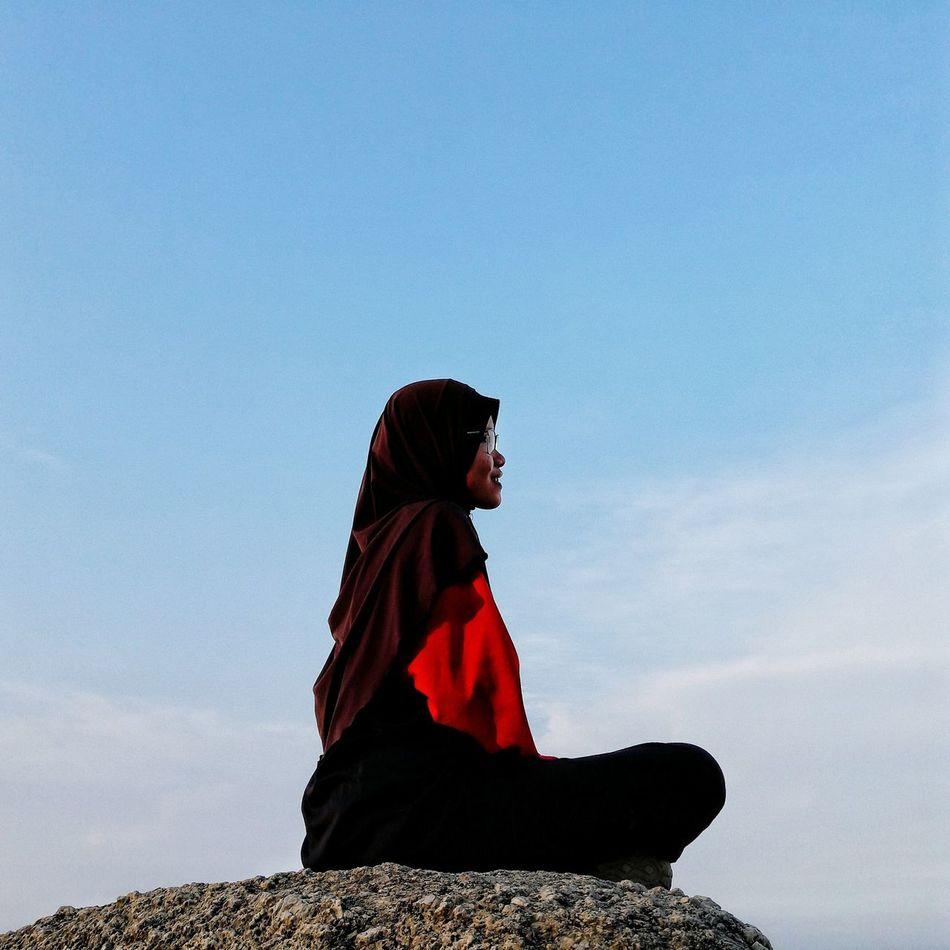Natrah-politicians (soon) Malaysia Bukit Broga Broga Hill Blue Sky Minimalism Minimal Colour Of Life EyeEmPhoto A Eyeemphoto Minimalist Architecture Women Around The World