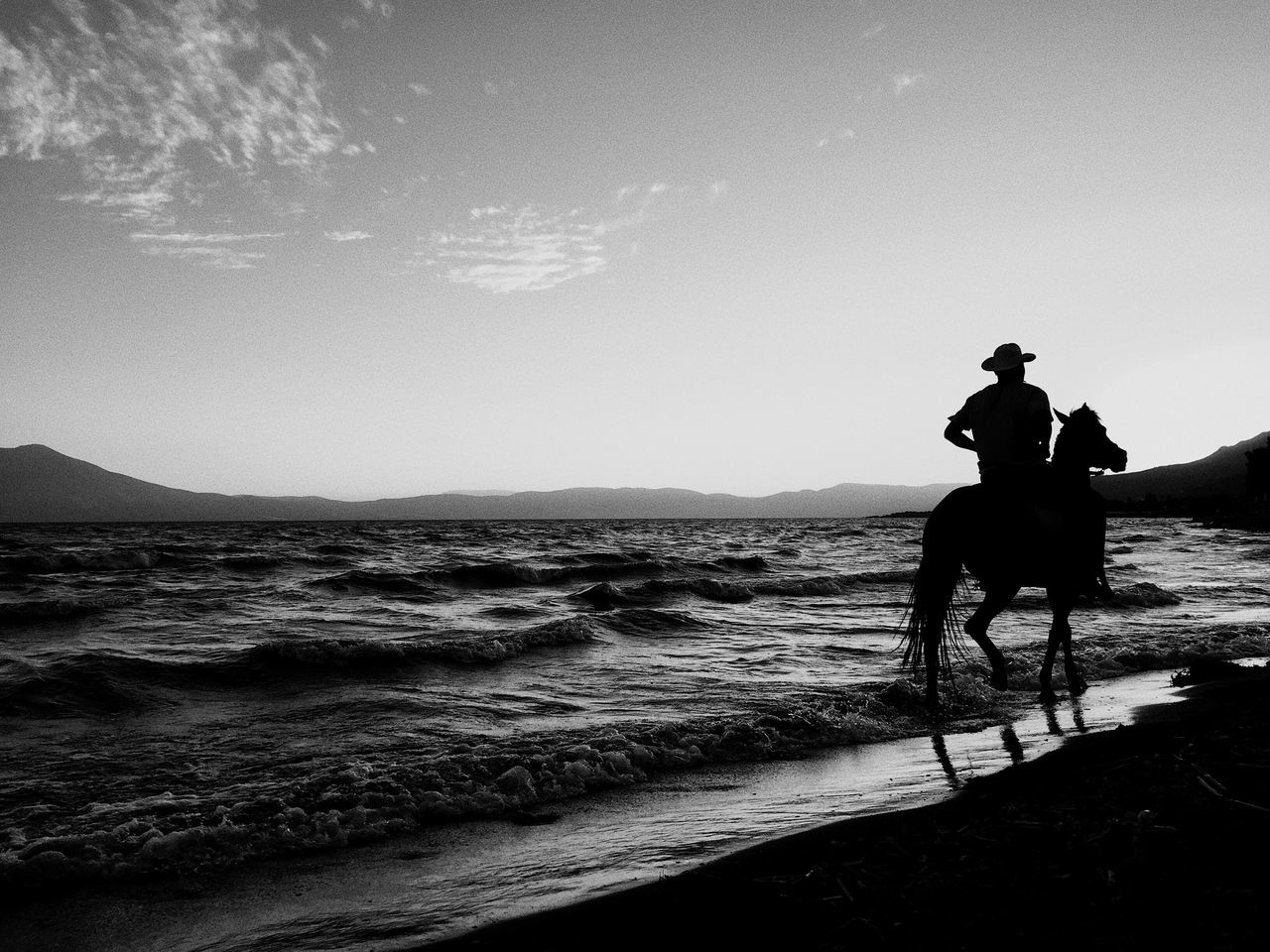 Long Goodbye Horse Domestic Animals Horseback Riding Sea Real People Lifestyles Nature Sky Riding Full Length Men Beauty In Nature Water Beach Horizon Over Water Hapiness Peace ✌ Beach Life Beach Photography Nature Love Blackandwhite