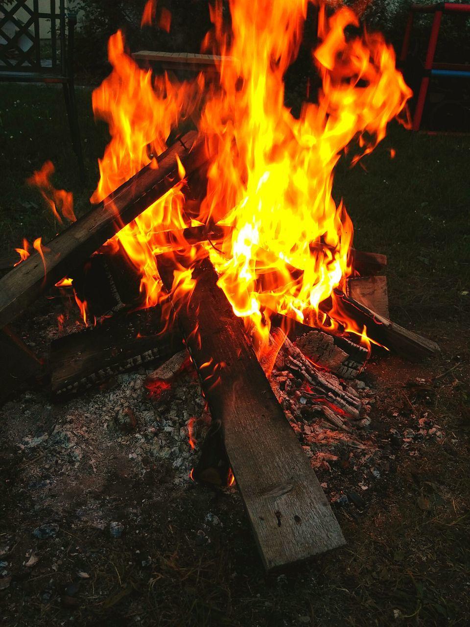Full Frame Shot Of Bonfire At Sunset