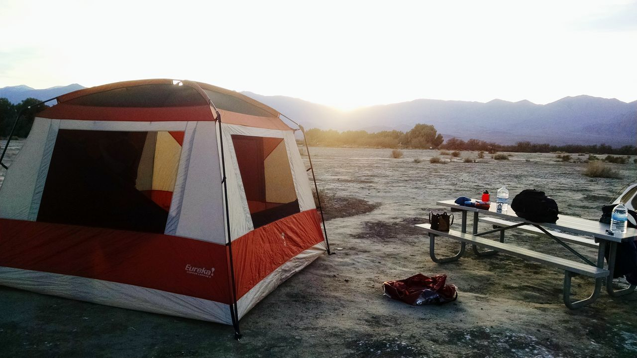 Death Valley Outside Desert Nature Tent Camping Sunset