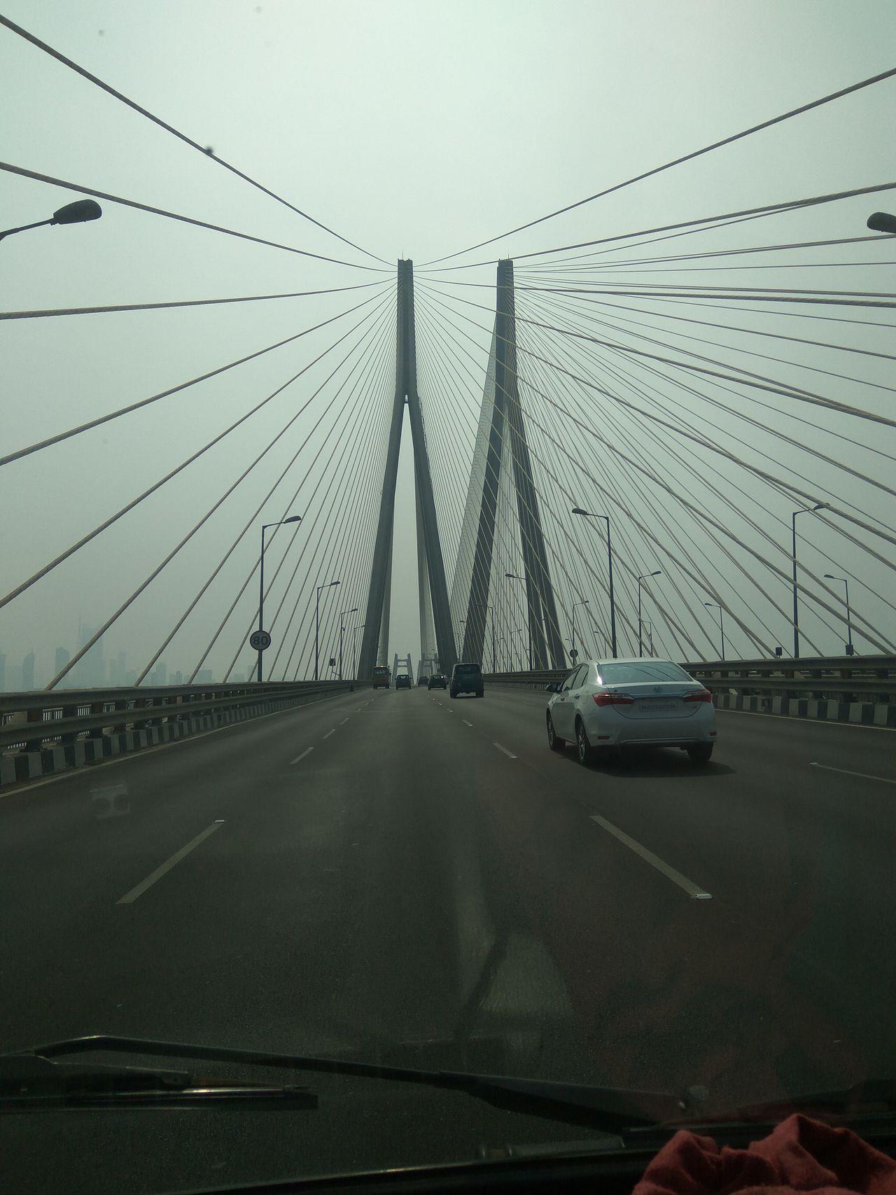 Cabile Car Interior Road Sign Sea Link Mumbai Sky