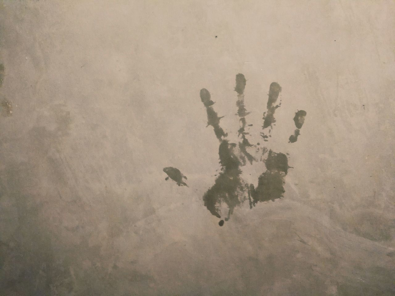 Hand print No People Close-up Hands Hand Print Concrete Wall