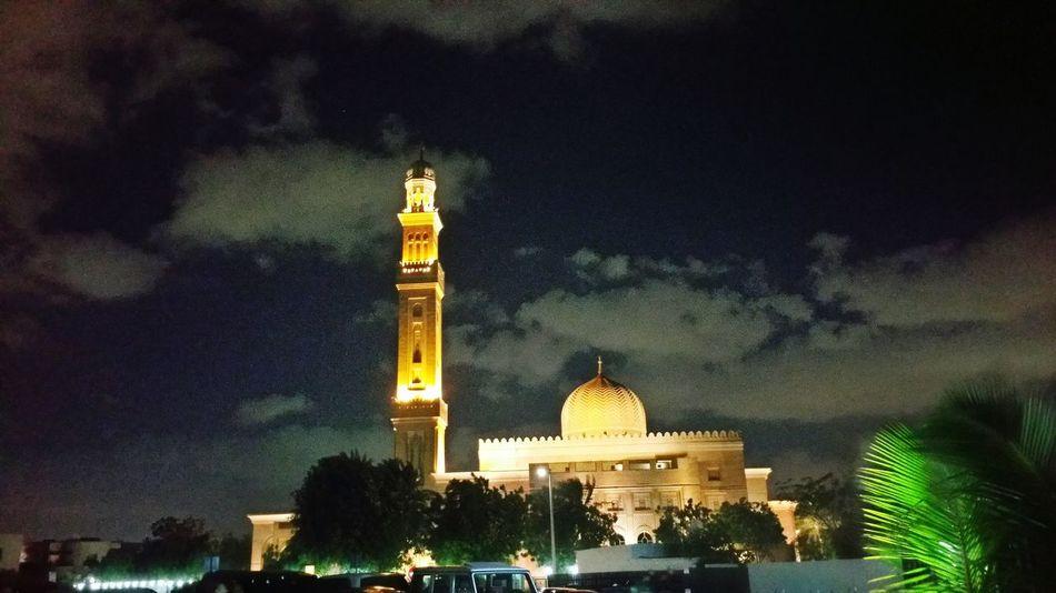 #Mosque UAE UAE , Dubai تصويري  تصويري♡ Architecture Built Structure Building Exterior Sky Illuminated Travel Destinations No People Outdoors Tree Nature Statue Religion Low Angle View