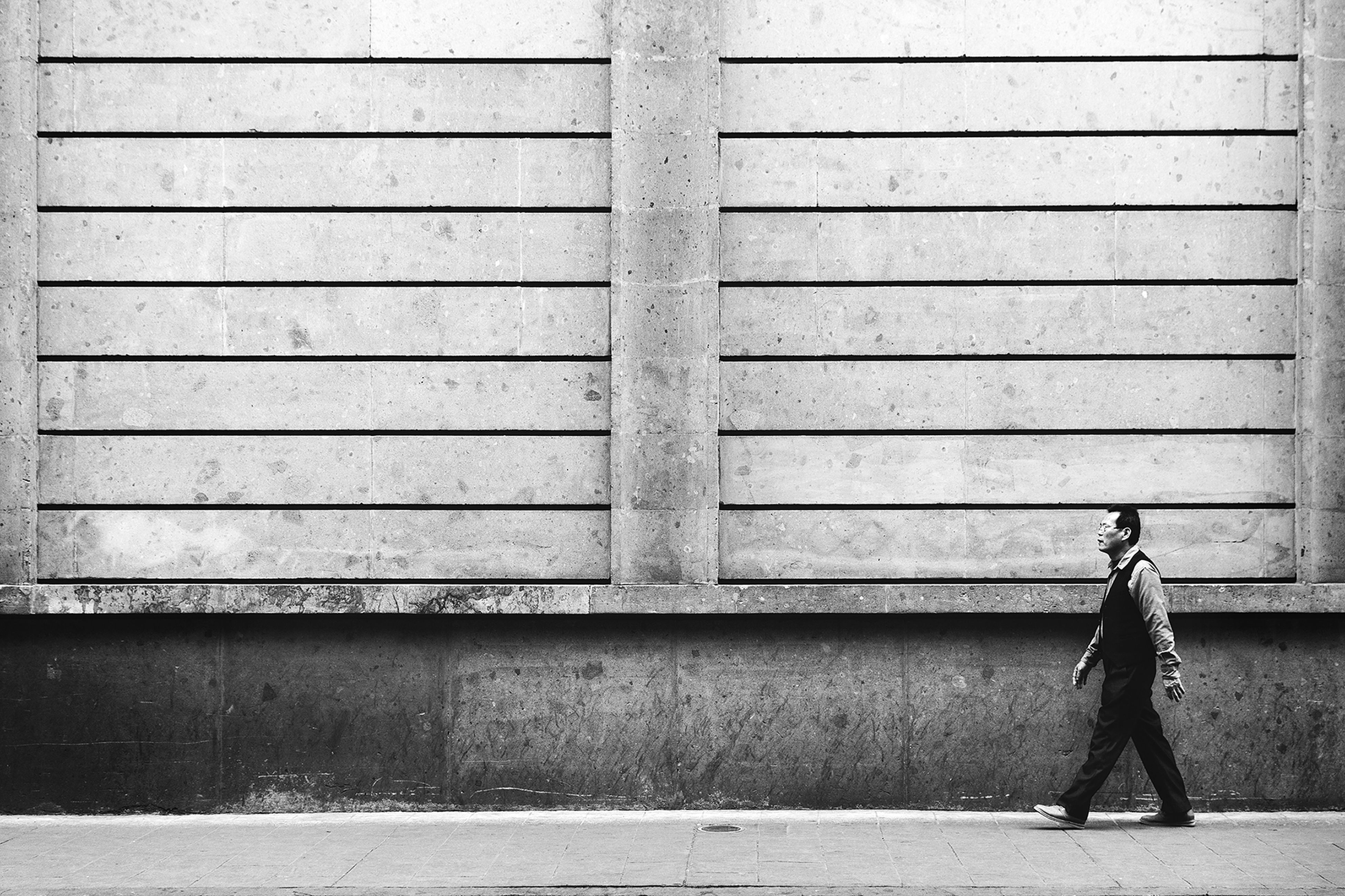 full length, walking, day, casual clothing, outdoors, innocence, repetition, architectural feature, footpath