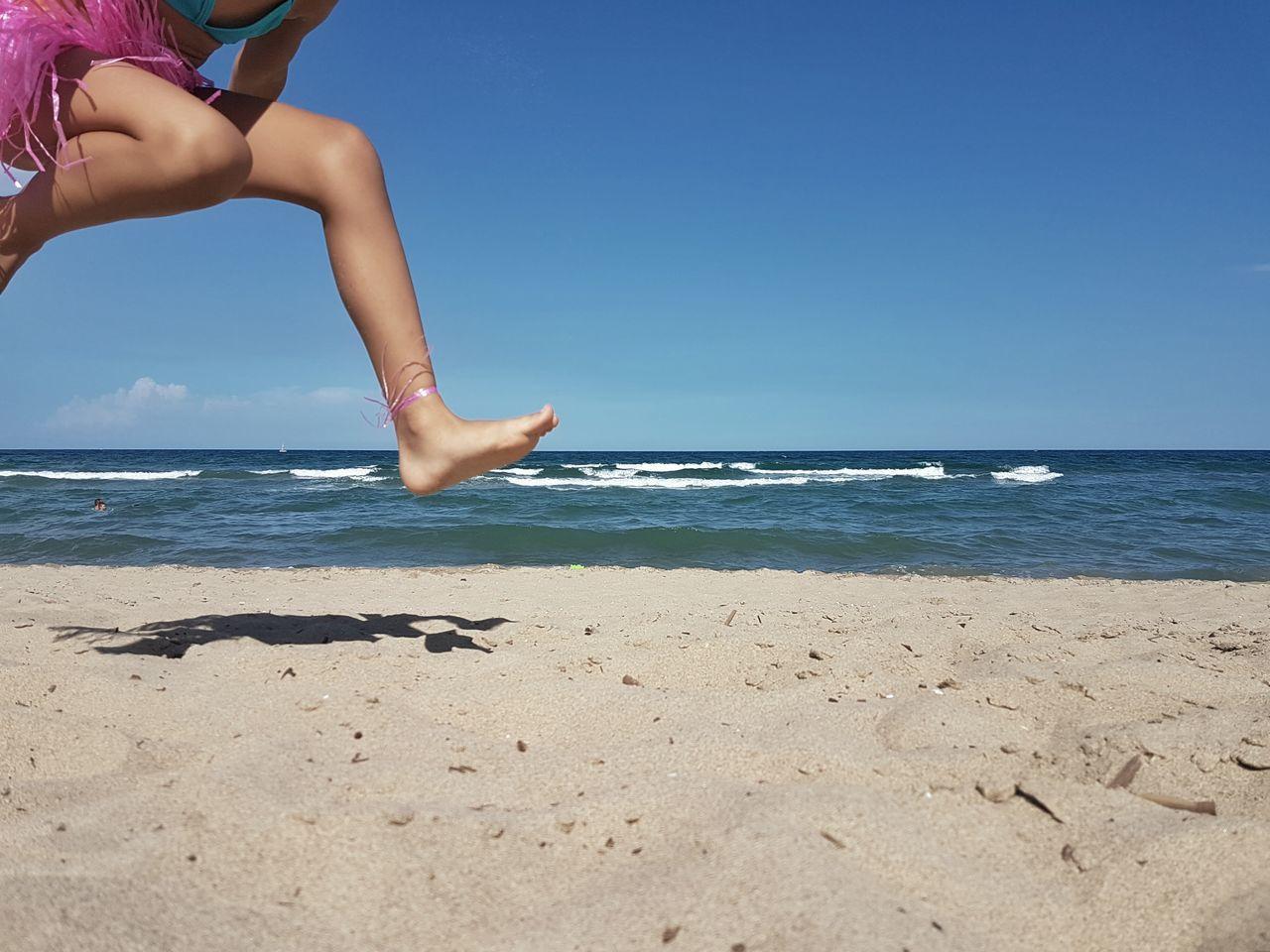 Jump Jumping Sea Water Sand Beach Blue Sicily Landscape Beach Photography Child At The Beach Enjoying Life Enjoying The Sun
