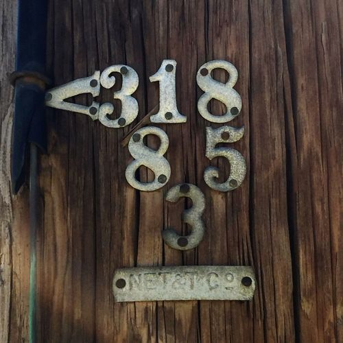 Numbers Telephone Pole Month Year Poll Number Portsmouth New Hampshire Wood Metal Numbers