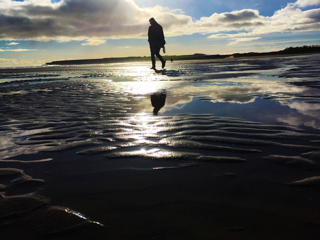 Holiday Lunan Bay Photoshoot Travel Beach Lifestyles Men Nature One Person Outdoors People Photography Scotlandsbeauty Sea Sea And Sky Sky Vacations Water