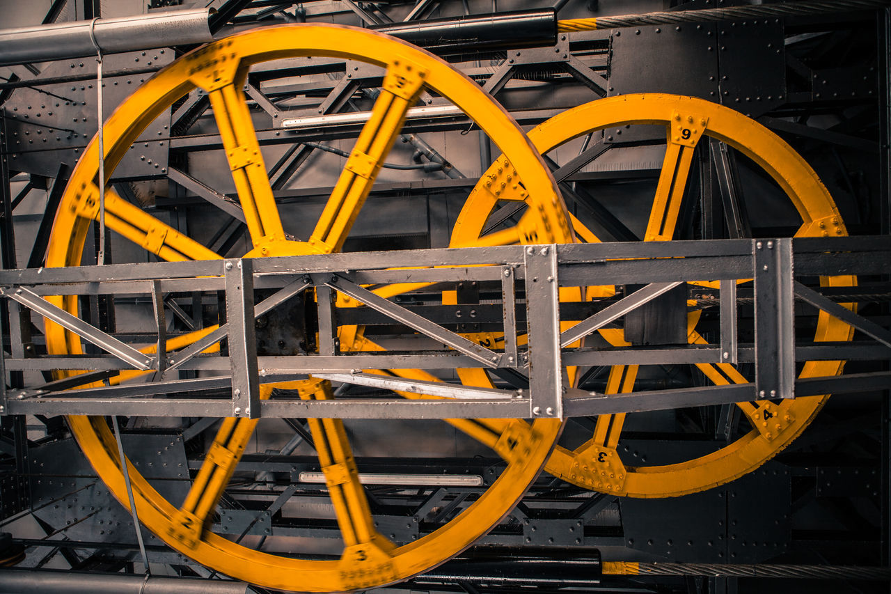 Close-Up Of Yellow Wheels