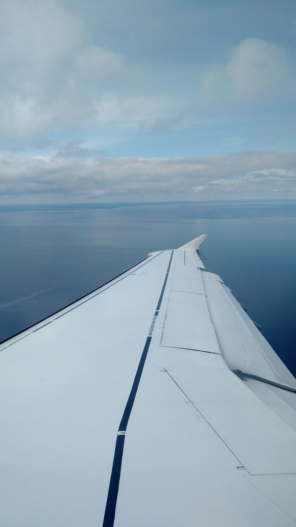 Airplane Wing AirPlane ✈ Airplaneview Beauty In Nature Blue Cloud Cloud - Sky Cropped Day Idyllic Nature No People Ocean Outdoors Part Of Scenics Sky Tranquil Scene Tranquility