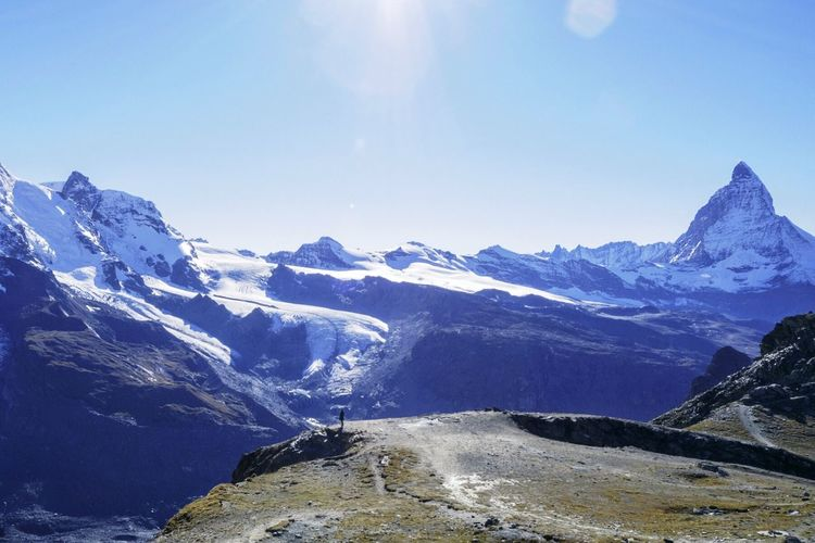 Vacation Time Nature Highland Landscape Snow Mountain Mountain View Traveling Hiking Enjoying Life Freedom
