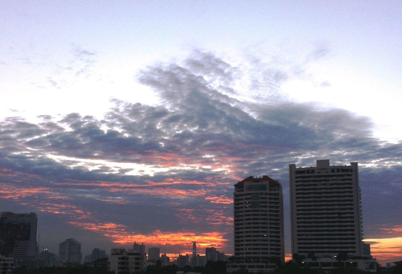 Evening sunset, hide beyond the rainy cloud at Bangkok THAILAND; WeatherPro: Your Perfect Weather Shot Eyeem Best Shot - Nature Sun_collection #sunset #sun #clouds #skylovers #sky #nature #beautifulinnature #naturalbeauty #landscape Sky_collection