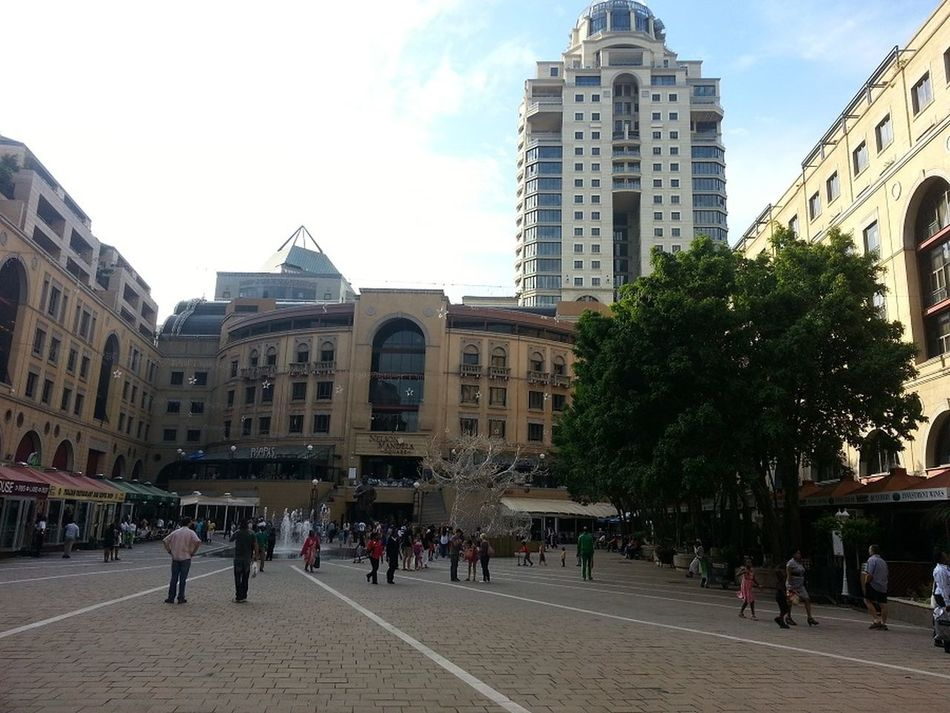 Mandela Square Relaxing Taking Photos Sandton On A Holiday Shopping Mall