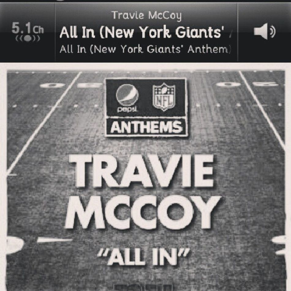 This songs shows the spirit of the team even though i dont follow NFL :P. Pepsi Travie Newyork NYC Music Nowplaying