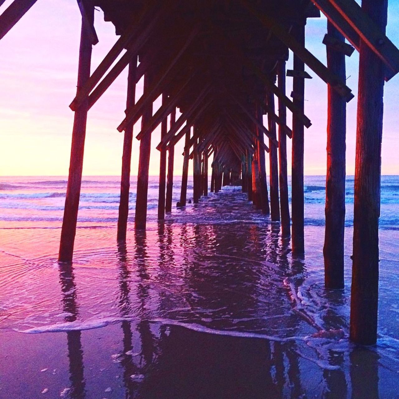 ColorMePurple OceanLovers Pier Morningsun Sunrise/Sunset Skyporn ColorMePurple its true color PinkNPurple