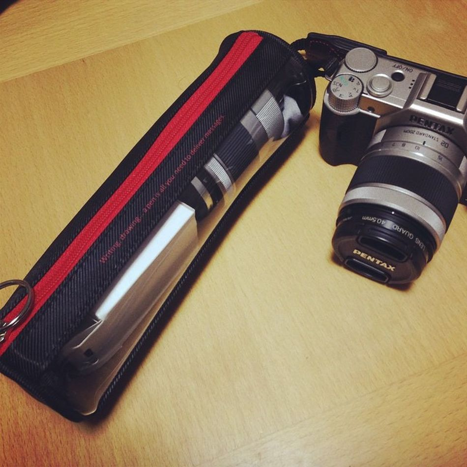 Lens Pentax Pencase レンズ PENTAXQ10 ペンケース マイクロ一眼 レンズケース