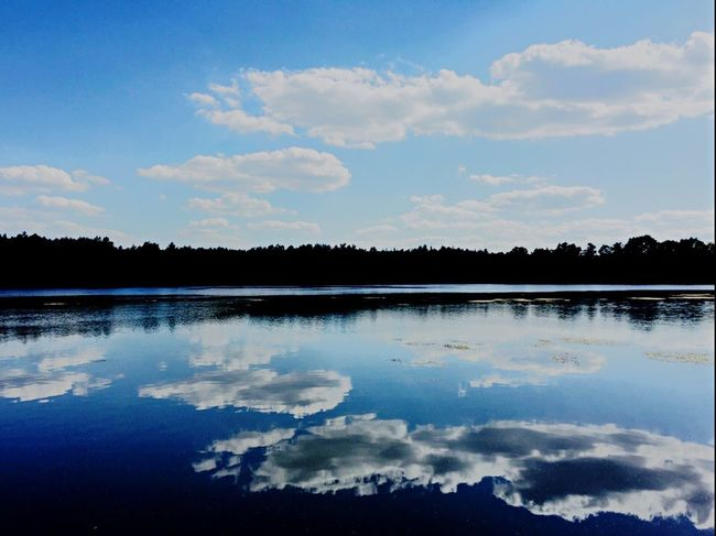 Reflection Water Nature Beauty In Nature Tranquil Scene Tranquility Sky Scenics Tree No People Lake Idyllic Outdoors Landscape Day Clam