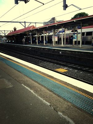 train station at Redfern Station (Concourse) by Kate Roden