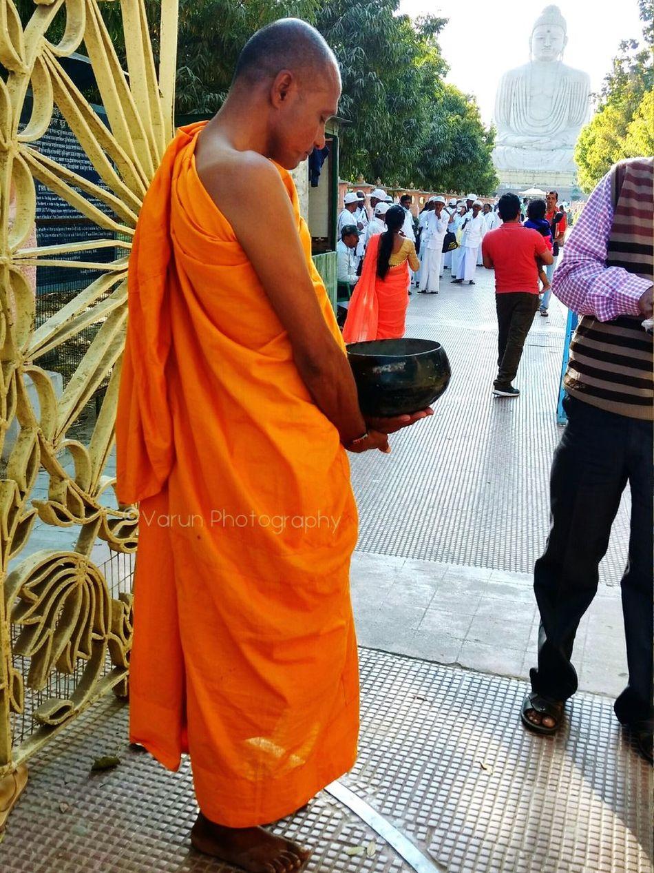 "Pilgrim,Gaya. Religion Spirituality Buddhism BUDDHISM IS LOVE Buddhist Monks Buddhist Temple Buddhist Statue Buddhist Culture Fulfilling ""ceremony of begging""....""Buddham, Sharanam, Gachaami..."""