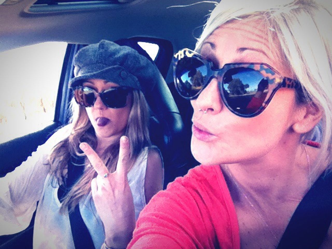 Faces Of Summer Me And My Sister Sunday Funday Car Selfie Girl Power