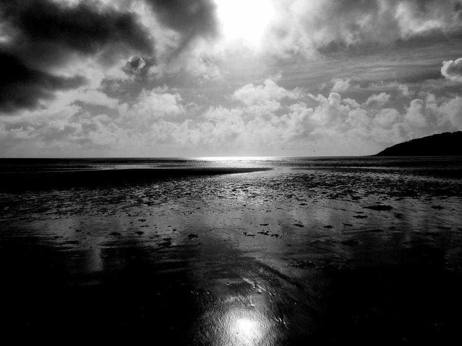B&w Photography Beach Beach Photography Beach View Beauty In Nature Black And White Photography Blackandwhite Photography Cloud - Sky Coastline Coastline Dramatic Lighting Gower Gower Coast Gower Peninsular South Wales Gowercoast Gowerpeninsula Horizon Over Water Oxwich Oxwichbay Shore Tranquil Scene Wales Wales UK Walesonline EyeEm Best Shots - Black + White