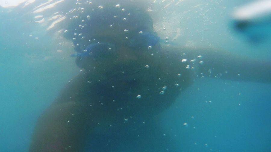 Deep into the ocean.