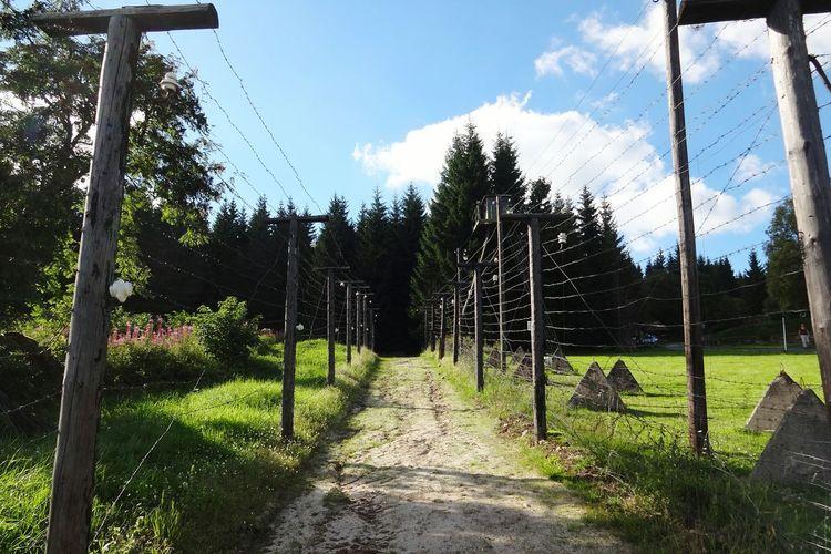 Nature Outdoors Teufelshänge Historical Monuments Cold War Eiserner Vorgang Tschechien Bayerische Wald Grenzbefestigung Grenzsperranlage Grenze No People Border Grenzland Way Forward Fence Stacheldrahtzaun