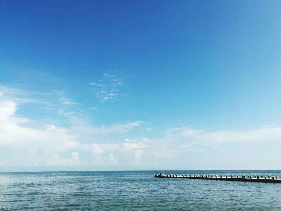 Sea Horizon Over Water Water Outdoors Day Tranquility Scenics Cloud - Sky Nature No People Sky Blue Beauty In Nature Nautical Vessel Penang