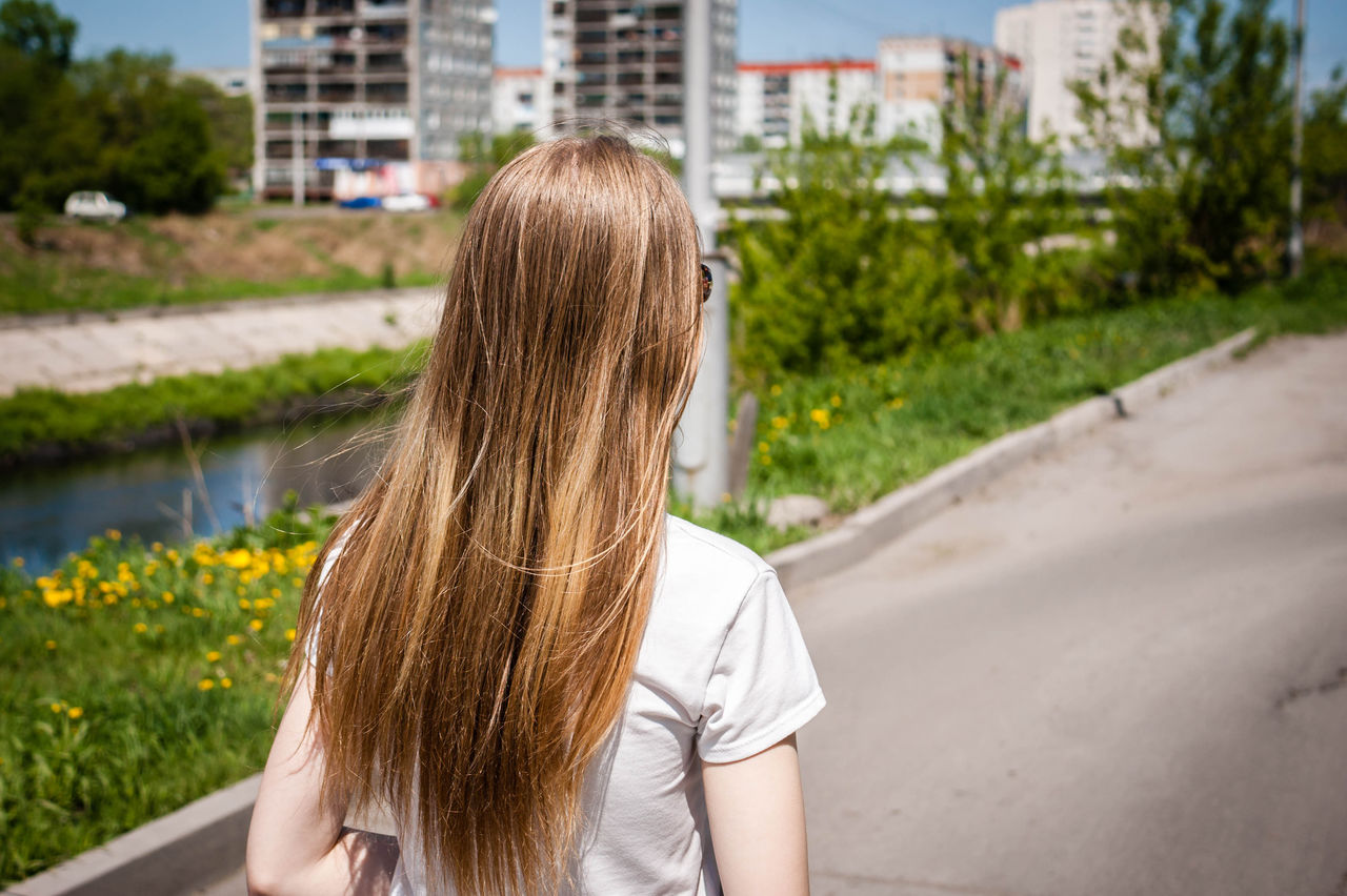 Beautiful stock photos of girl, Blonde Hair, Canal, Day, Girls