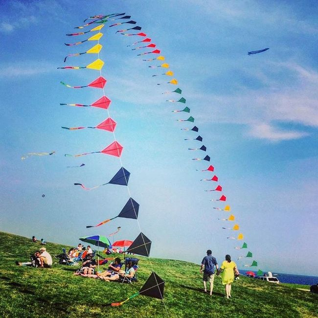 The Great Outdoors - 2016 EyeEm Awards The Essence Of Summer Kites Lovelycouple Kitefestival Brenton Point Newport Rhode Island Original Experiences Colour Of Life TakeoverContrast