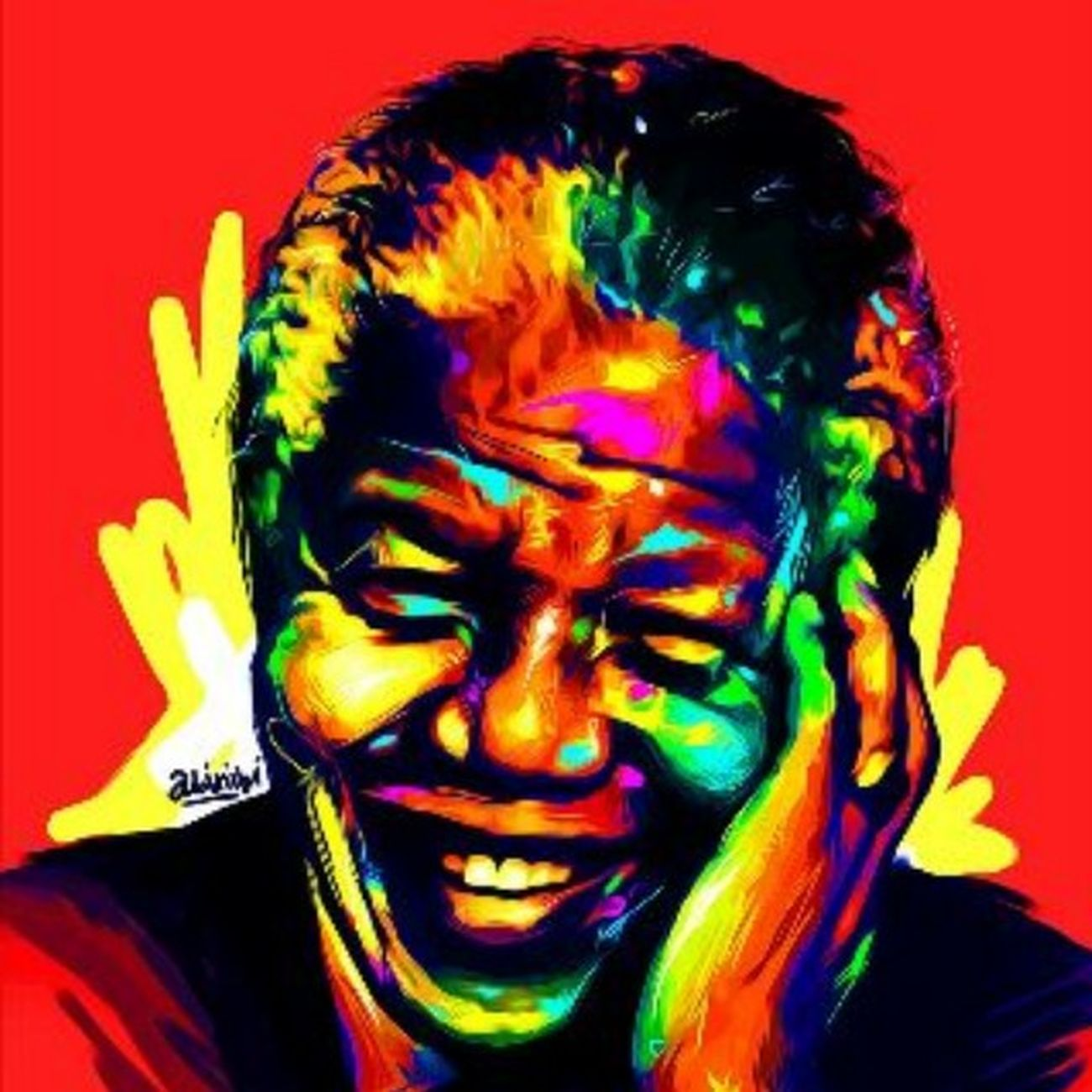 Rest on Mandiba. digital painting done by my good friend @abinibi. Mandiba Nelson Mandela R.I.P Southafrica