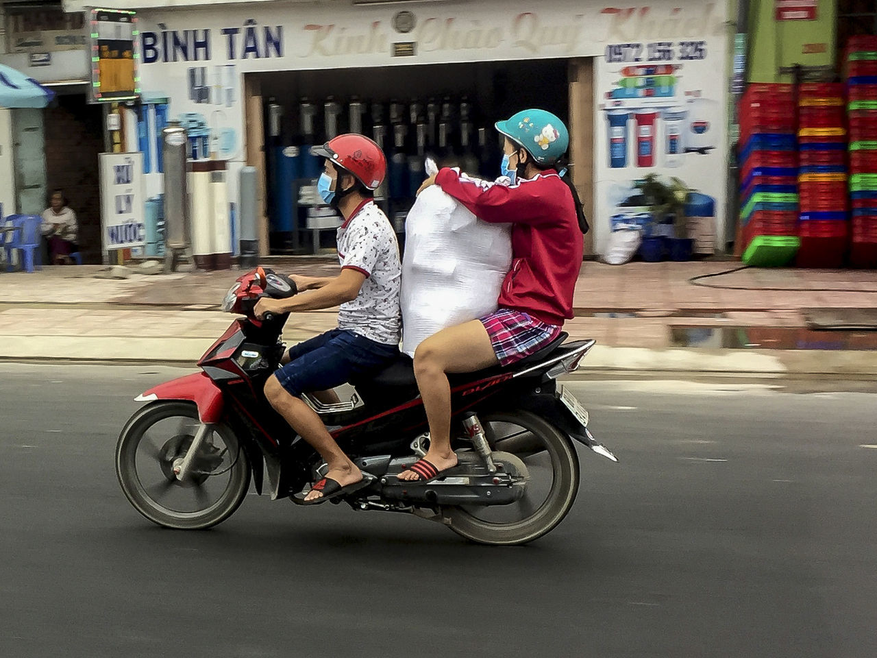 Bicycle Cycling Delivery Service Make A Plan! Overload People Transportation Trickortreat Vietanames Vietnam