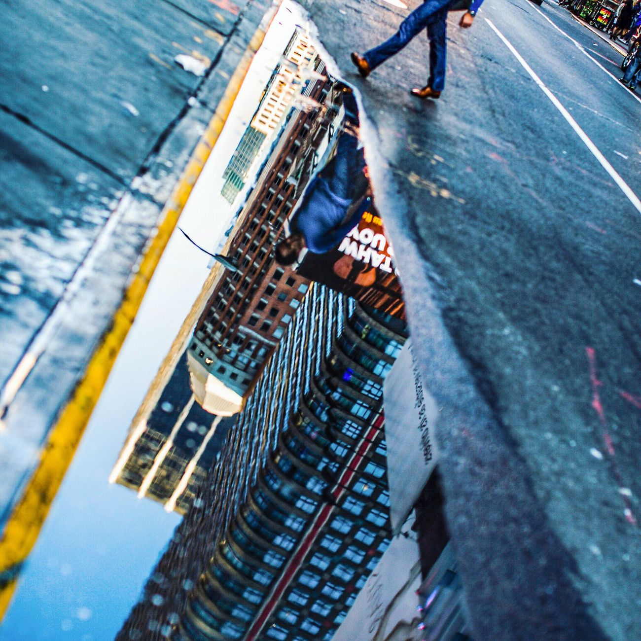 New York Reflections Vs II High Angle View Low Section Men Human Leg Two People Only Men Human Body Part Day People Adults Only Adult Indoors  Real People City Close-up Supermarket The Photojournalist - 2017 EyeEm Awards The Street Photographer - 2017 EyeEm Awards Reflection Streetphotography City Life