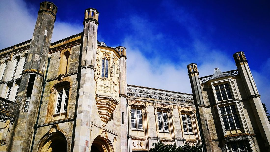 Architecture Low Angle View Built Structure History Travel Destinations Religion Building Exterior Sky Outdoors Spirituality No People Day Ancient Civilization Close-up King - Royal Person Highcliffe Highcliffe Castle