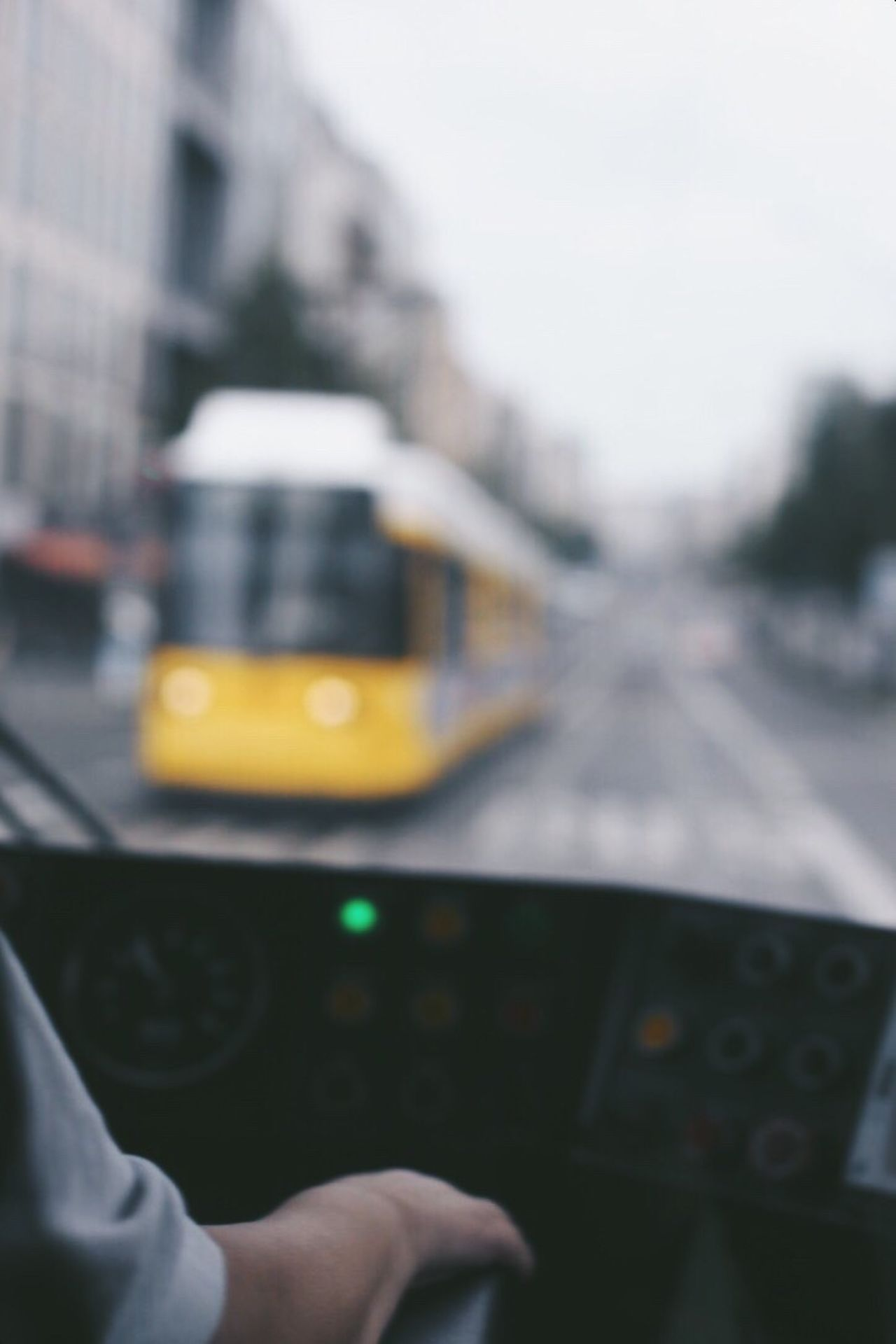 Tram Transportation Vehicle Interior Windshield Mode Of Transport Travel Driving Dashboard Windscreen Real People Human Hand Human Body Part Land Vehicle One Person Day Car Interior Public Transportation Cockpit Airplane Men