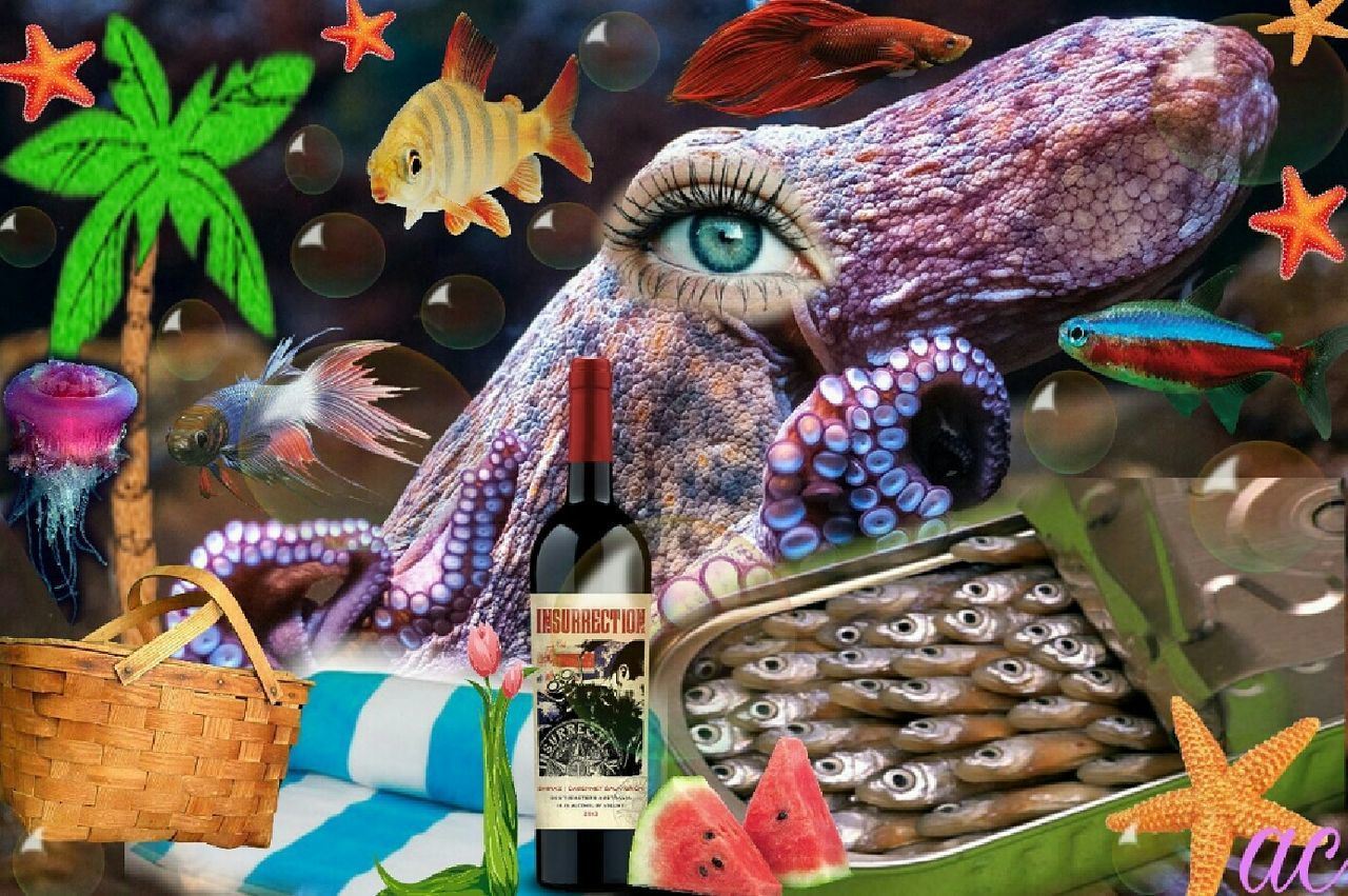 LOVE UNDER THE SEA Vibrant Color Collageoftheday Color Explosion Surrealism And Fantasy Art