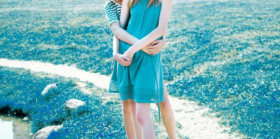 People Together Blue Lightblue People Hug Youth Nature Psychedelic Girls Color Palette Color Palette